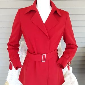 Ann Klein Belted Red Suit Jacket
